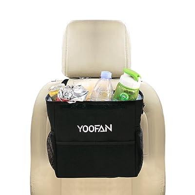 YOOFAN Car Trash Can, Small Car Cooler Bag Back...