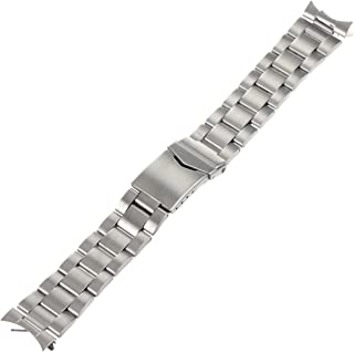 Hadley-Roma Men's MB5916RWSandC-20 20-mm Stainless Steel Watch Bracelet