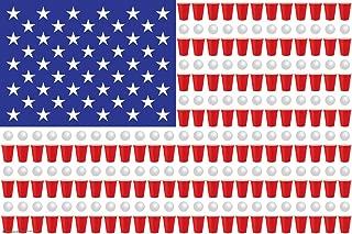 Frame USA Beer Pong Flag Poster Print (36x24) (Rolled)