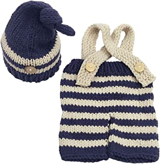 Jastore Newborn Infant Baby Boy Photography Prop Costume Cute Cap Pants