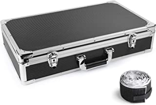 Ghost Fire Sturdy Locking Aluminum Guitar Effect Pedal Case with Pedal Mounting Tape Fastener, 22