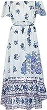 Jfoier bohimia skirt Sexy Women Summer Chiffon Boho Bohemian Long Maxi Dress Beach Dresses Sundress Slash Neck