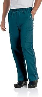 Landau Men's Standard Comfort Stretch 7-Pocket Cargo Drawstring Scrub Pants 8555