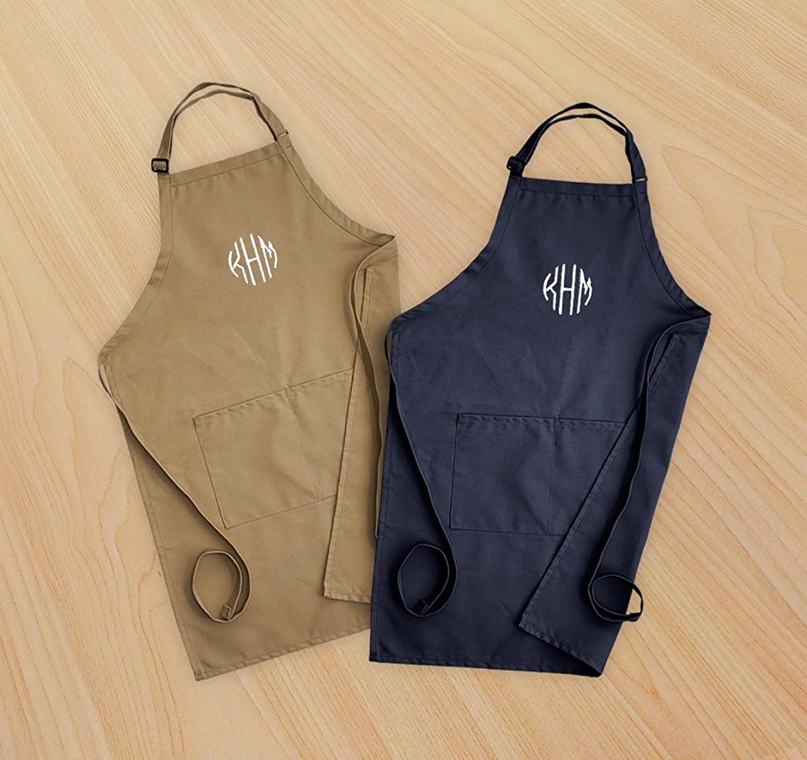 American Stationery Monogram Embroidered Men's Apron - 3981M