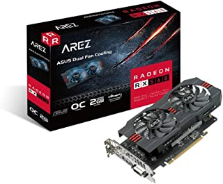 ASUS Radeon RX 560 OC - Tarjeta gráfica (2 GB, 14nm Polaris, 1024 Streams, 1210 MHz GPU) Color Negro