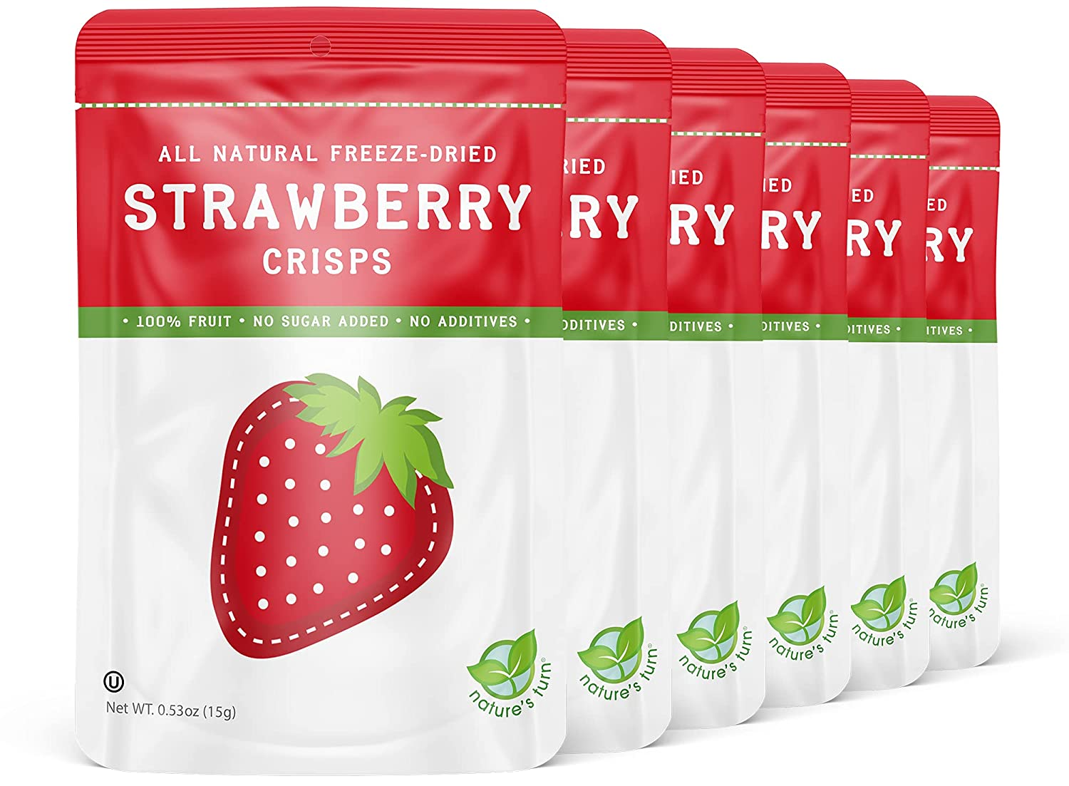 Nature's Turn Freeze-Dried Fruit Snacks - Crisps Strawberry Limited time for free shipping Pe New Free Shipping