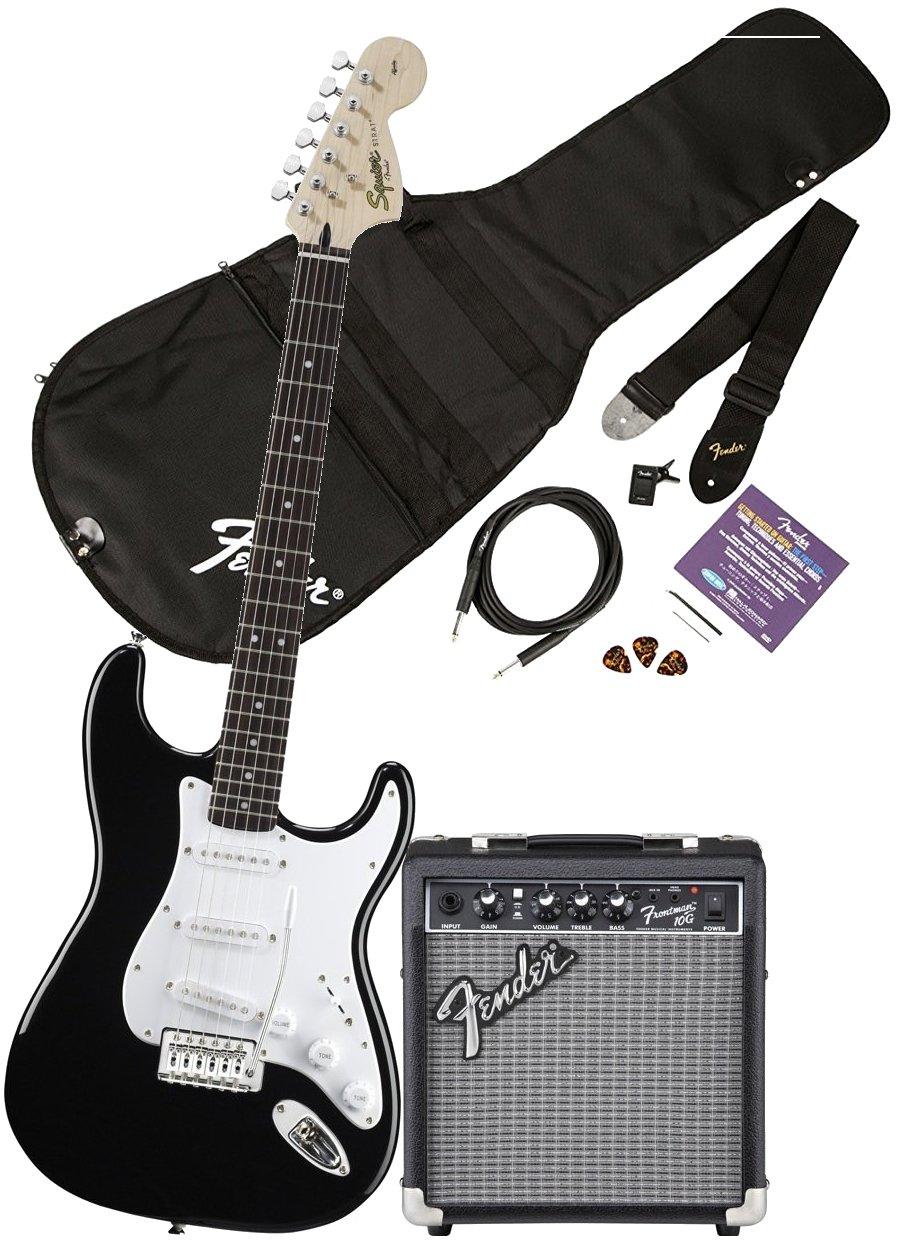 Squier Affinity Strat FM10G BK Set · Set guitarra eléctrica ...