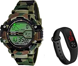 selloria Army Shockproof Waterproof Digital Sports Watch for Men's Kids Sports Watch for Boys - Military Army Watch for Men