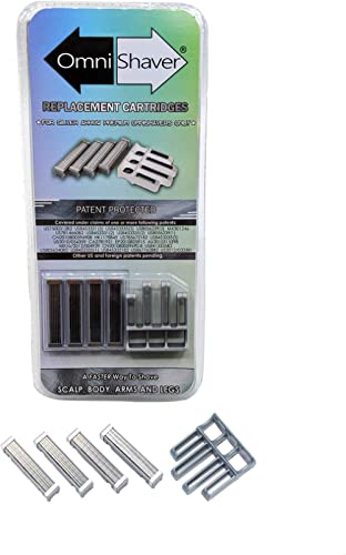 Premium Omnishaver Replacement Cartridge Refill Kit with One Blade Removal Tool - Disposable, Self Cleans & Strops Du...
