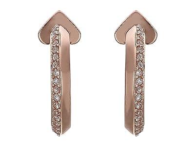 Kate Spade New York Raise The Bar Pave Huggies Earrings (Clear/Rose Gold) Earring