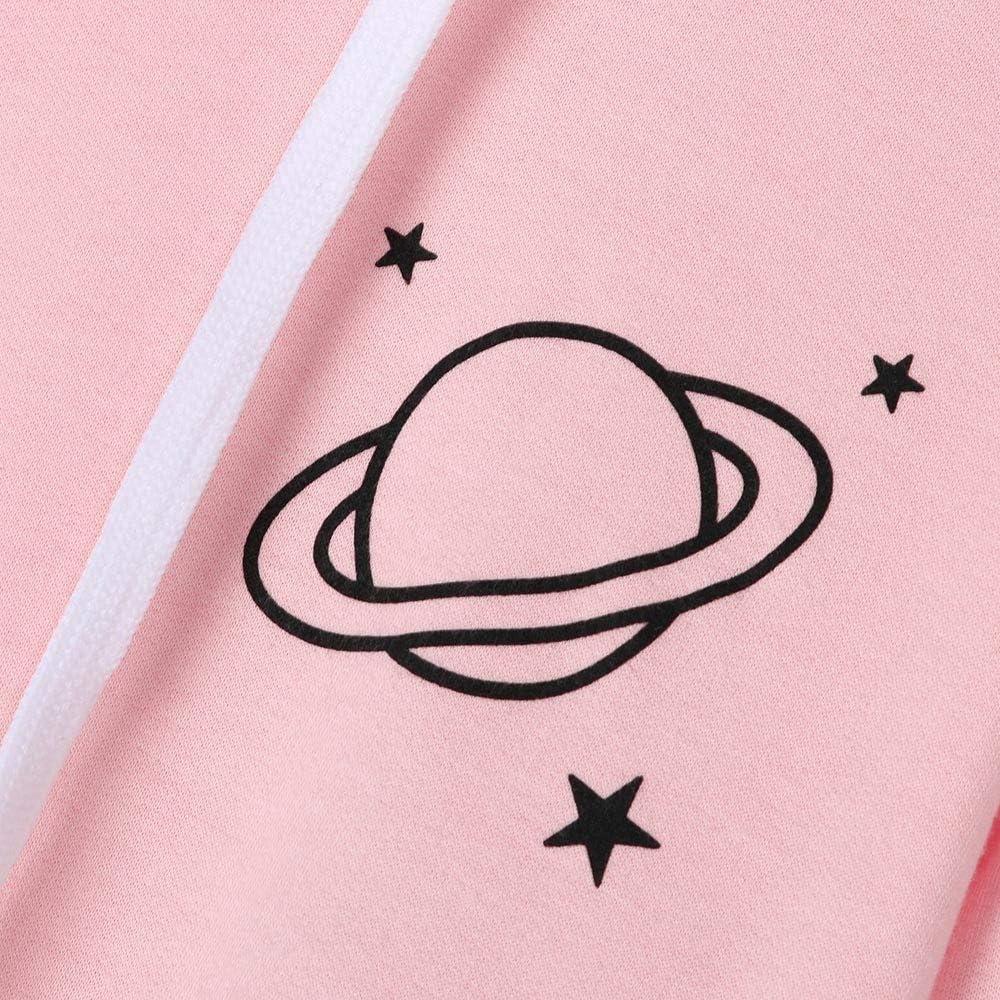 Girls' Hoodie, Misaky Casual Sports Planet Print Long Sleeve Hooded Pullover Sweatshirt Blouse Tops