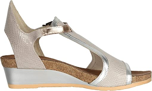 Beige Lizard Leather/Silver Luster Leather/Rose Gold Leather