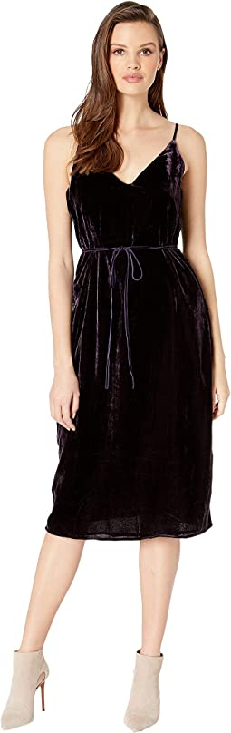 Javier Burnout Velvet Slip Dress