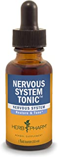 Herb Pharm Nervous System Tonic Liquid Herbal Formula to Strengthen and Calm the Nervous System - 1 Ounce (FASKULL01)