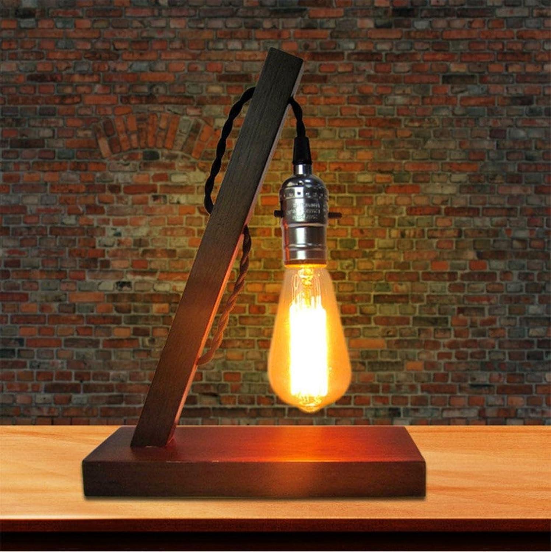 Innen Vintage Lampe Nachttischlampe Nachtlicht Massivholz Coffee Shop Schlafzimmer Schlafzimmer Schlafzimmer   Arbeitszimmer Wohnzimmer und so weiter. Dekorative Tischlampe Hoch 29,5 cm Nachtlicht B07JB4NSQH | Genial Und Praktisch  049417