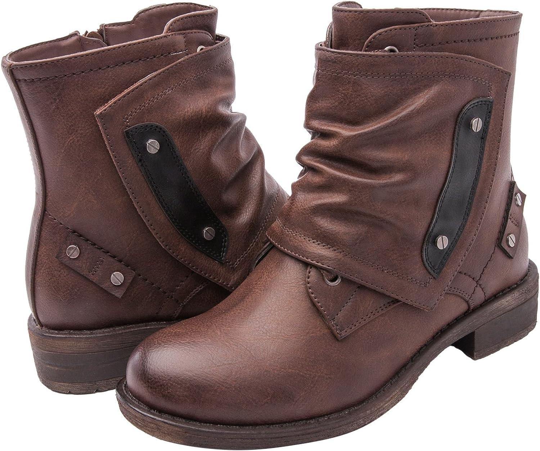 GLOBALWIN Women's KadiMaya1603-3 Boots 6.5M,Brown