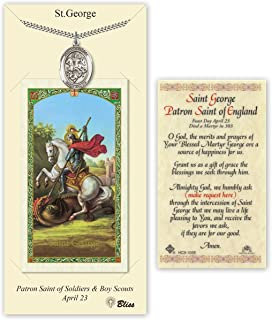 Pewter Saint George Medal with Laminated Holy Prayer Card