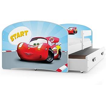 MEBLEKO Cama infantil de 140 x 70 cm con cajón, colchón y ...