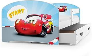 comprar comparacion Interbeds Cama Individual LUKI - Blanco,160X80, con cajón, somier y colchón de Espuma Gratis! (Coche)