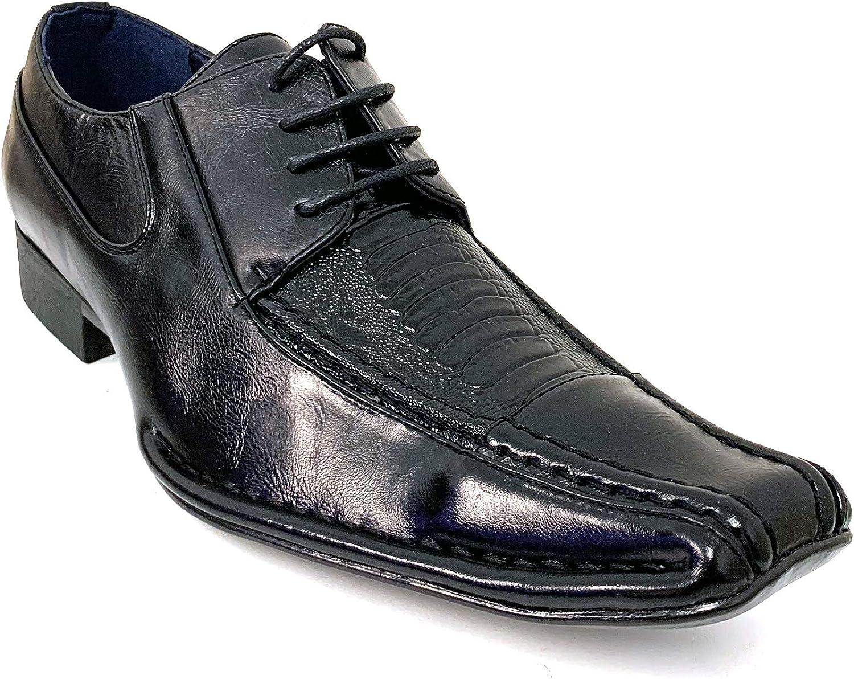 Men's Dress Shoes Lace Up Alligator Crocodile Oxfords Cowboy Western
