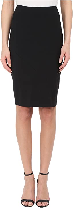 Stretch Wool Knee Length Skirt