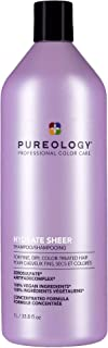 Pureology Hydrate Sheer Shampoo | For Fine, Dry, Color-Treated Hair | Lightweight Hydrating Shampoo | Silicone-Free | Vega...