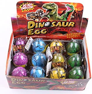 YKL WORLD Cute Magic Hatching Growing Pet Dinosaur Eggs Large Colorful Dino Toys for Kids / Easter Party Favors Pack of 12...