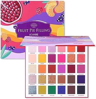 UCANBE 30 Colors Fruit Pie Filling Eye Shadow Palette Makeup Kit Vibrant Bright Glitter Shimmer Matte Shades Pigment Eyesh...