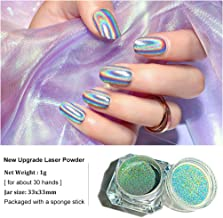 Holographic Laser Powder of Rainbow Nail Art Chameleon Glitter Peacock Chrome Powder Pigment Manicure Extra Nail Ultra Fine Nail Glitter for Gel Polish Shiny of Butterfly Flakes Dust