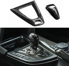 2pcs carbon fiber center console gear shift knob plate for BMW F80 M3 M4 F82 X5M X6M sticker parts