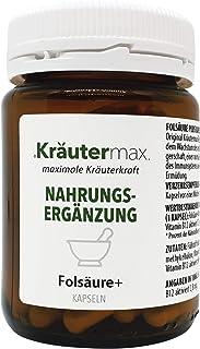 Kräutermax Ácido fólico 400 µg más cápsulas 1 x 90 piezas Alta dosis para el embarazo