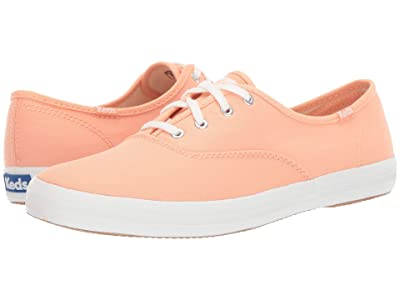 Keds Champion Solids (Coral Canvas) Women