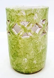 Bicchiere Portaspazzolini Linea Verde Ceramica Realizzato e Dipinto a mano da Le Ceramiche del Castello Nina Palomba Made ...