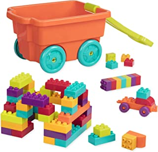 Battat - Locbloc Wagon - Building Toy Blocks for Toddlers (54 pieces) (Renewed)