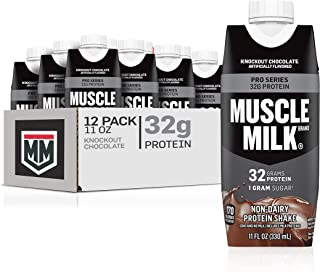 Muscle Milk Pro Series Protein Shake, Knockout Chocolate, 32g Protein, 11 Fl Oz, 12 Count