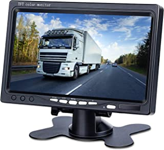 Upgrade Backup Camera Monitor 7 Inch Rearview Reversing LCD Monitor, 1280X720P Resolution Screen, Two Video Input Plug V1/...