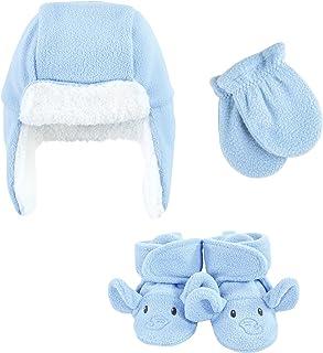 Hudson Baby Unisex czapka chwytakowa dla dzieci, zestaw rękawic i butów, niebieski słoń, 0-6 miesięcy