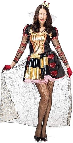 LVLUOYE Cosplay Halloween Roter Herz-K gin Kostüm Sexy Court Pfirsich-Herz-Bühne Kostüme und Maskerade Zubeh