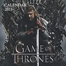 "Game of Thrones: 2021 Wall Calendar - Large 8.5"" x 17"" When Open - 12 Months"