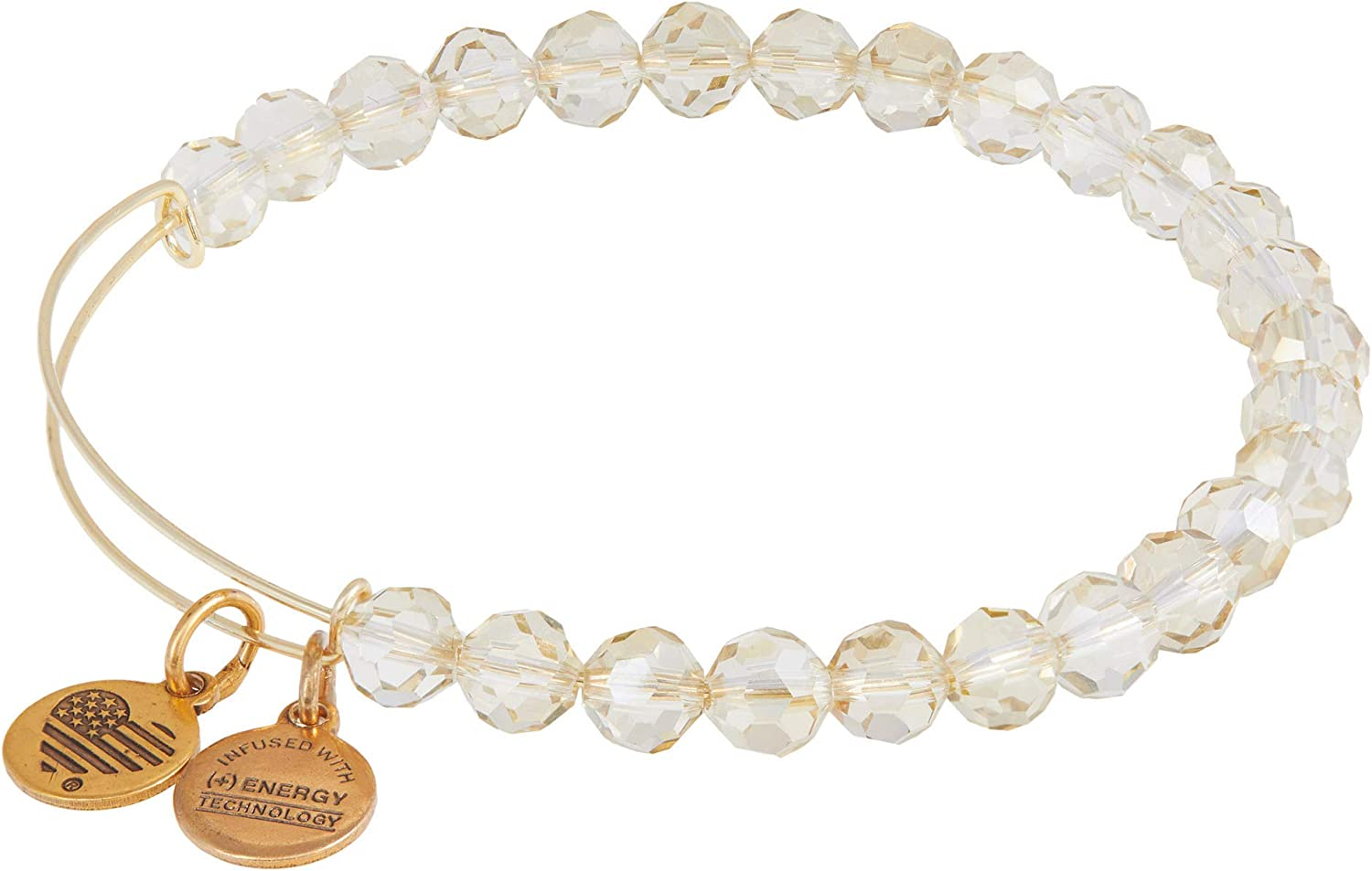 Alex and Ani Starburst Beaded Expandable Wire Bangle