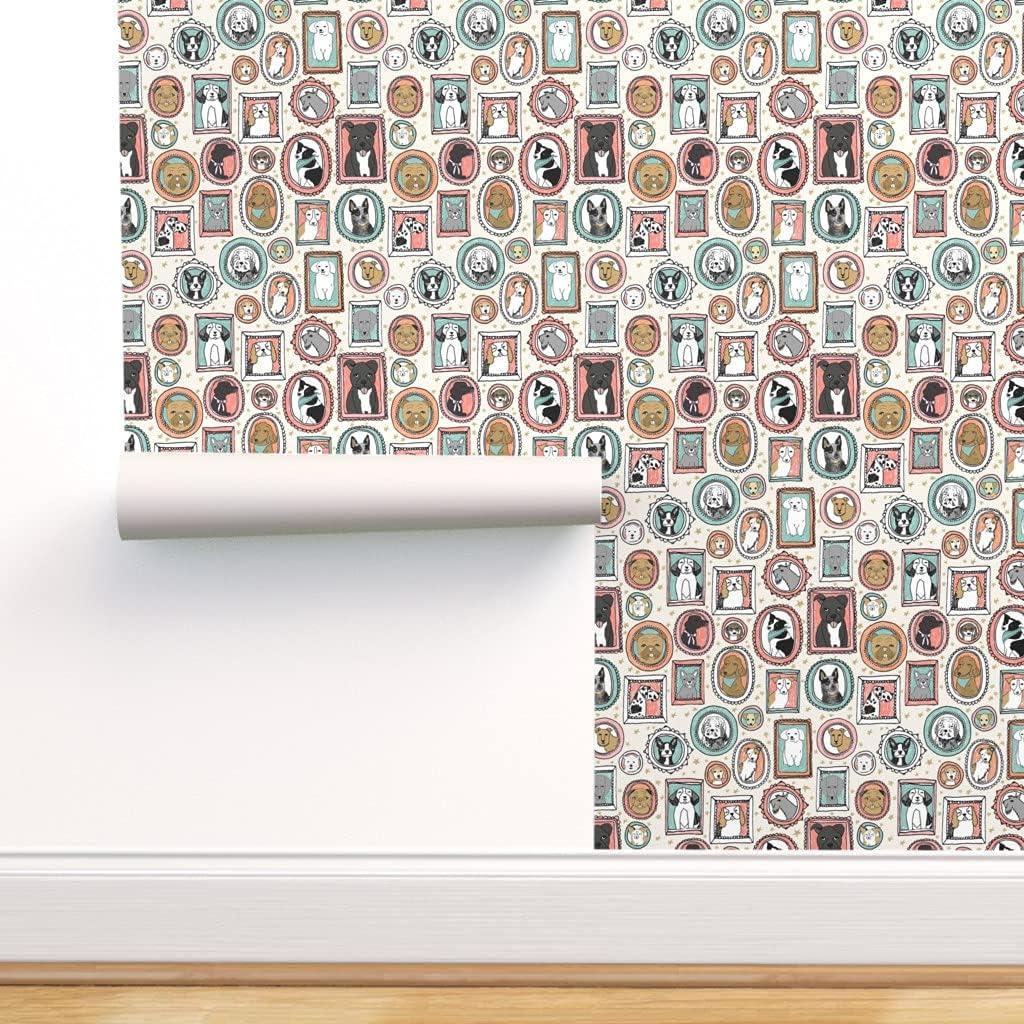 至上 Spoonflower Peel and 正規取扱店 Stick Removable Picture Dog Wallpaper Pet