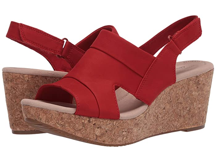 Clarks  Annadel Ivory (Red Nubuck) Womens  Shoes