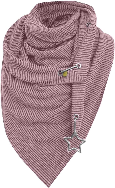 Asalinao Schal Damen Dreieck Groß Elegant Einfarbig Button Knopf Dreieckstuch Lässige Herbstschal Winterschal Karo Tartan Streifen Halstücher Herbstschal Weich Scarf Mehrfarbig-9