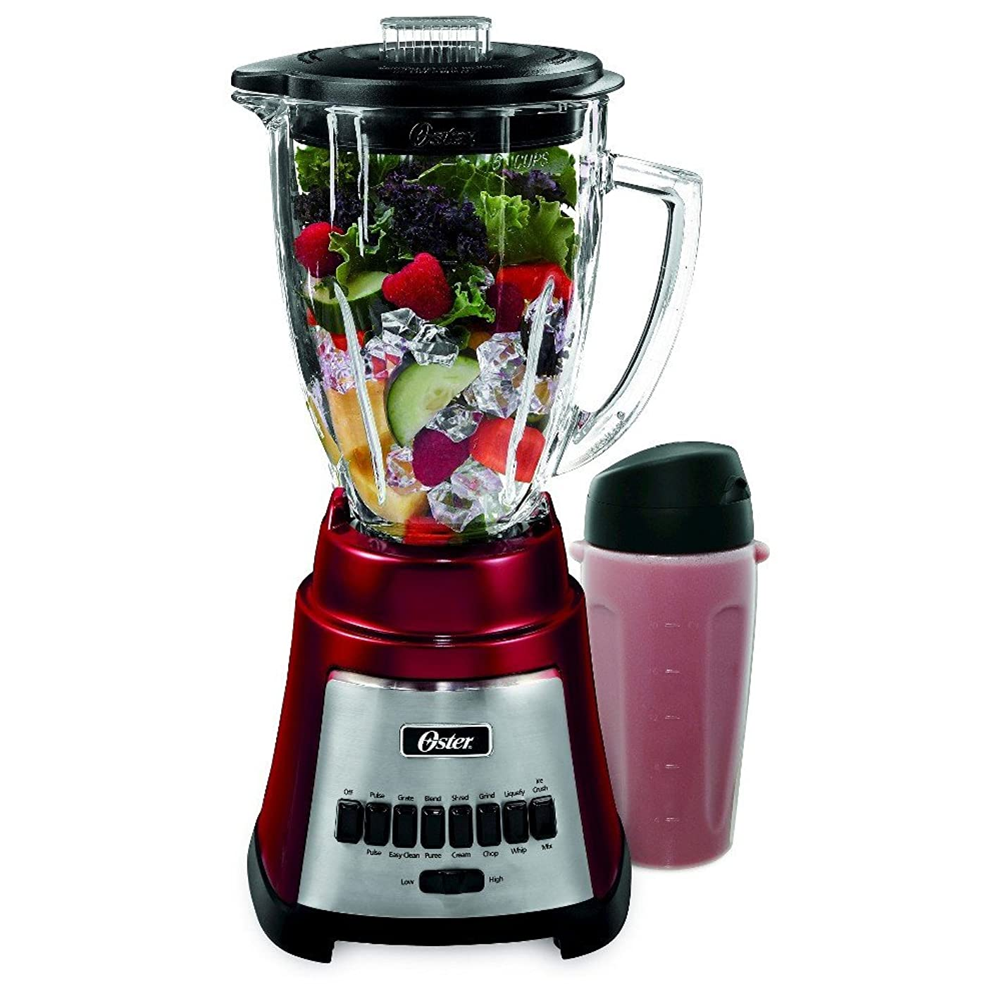 Oster BLSTFG-RBG 6-Cup Glass Jar 12-Speed Blender Red