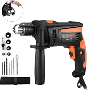 Hammer Drill, TACKLIFE 1/2-Inch Electric Drill, 12 Drill Bit Set, 2800 RPM,..