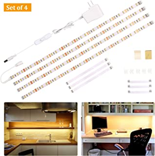 Wobane Under Cabinet Lighting Kit,Flexible LED Strip Lights Bar,Under Counter Lights for..
