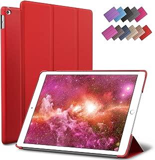 ROARTZ iPad Mini 4 case, Red Slim Fit Smart Rubber Coated Folio Case Hard Cover Light-Weight Auto Wake/Sleep for Apple iPad Mini 4th Generation Model A1538/A1550 Retina Display