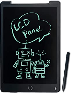 Richgv Tablette D'écriture LCD 12 Pouces, Tableau de Dessin Effaçable avec Bouton de Suppression, Bloc-Notes, Ardoise Magi...