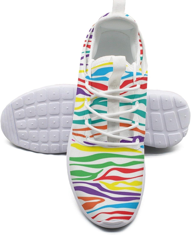 ERSER colorful Rainbow Skin of Zebra Minimalist Running shoes Women Road