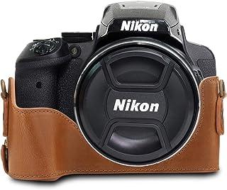 MegaGear MG956 Estuche para cámara fotográfica - Funda (Funda Nikon Coolpix P900 Coolpix P900S Marrón)